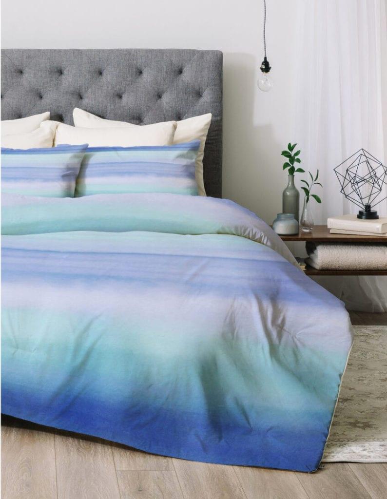 ombre dorm room bedding