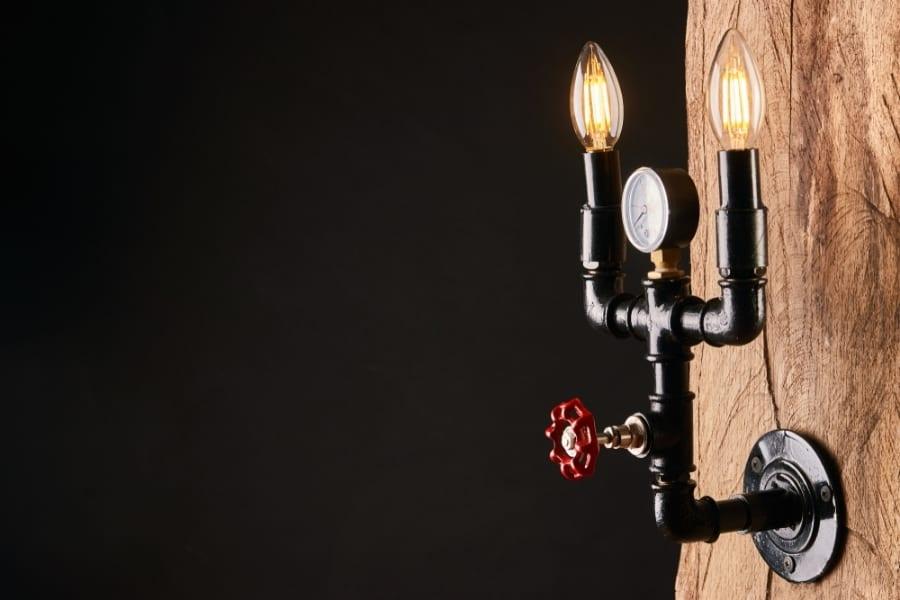 Vintage pipe lamp fixture