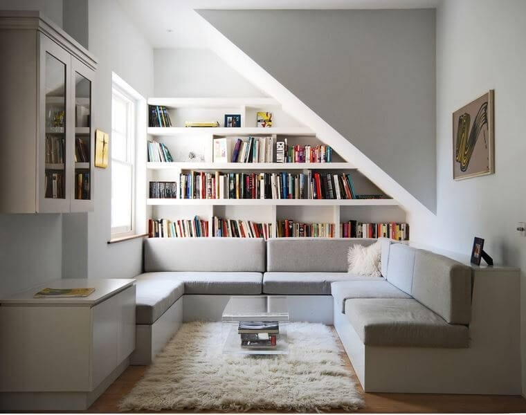 woman caves reading nook