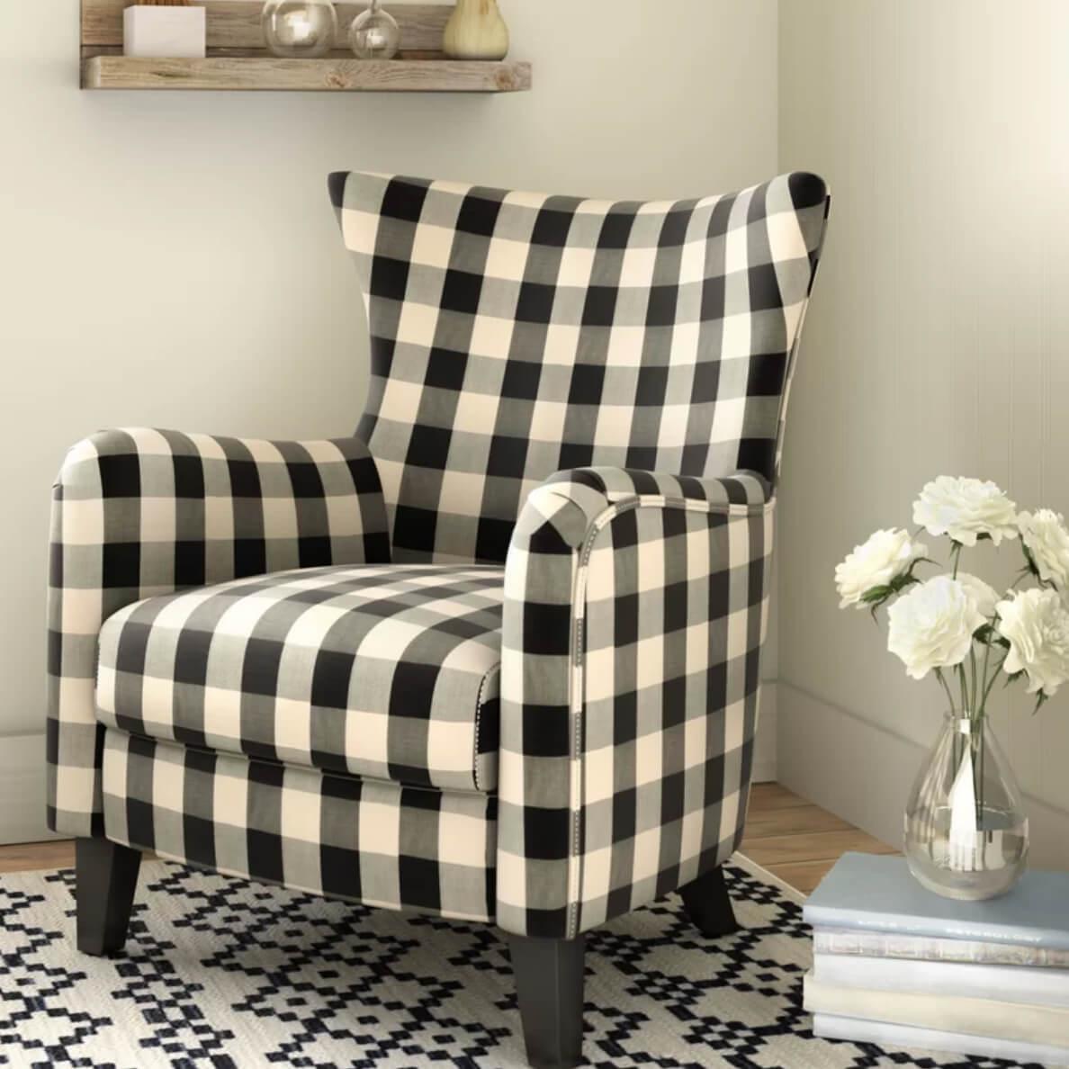 Plaid Decor Chair