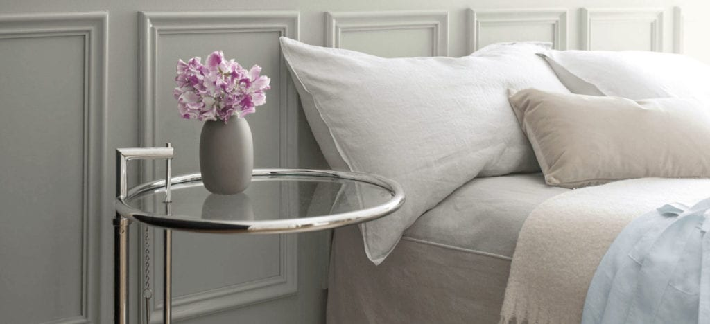 A neutral tone provides a soothing backdrop.