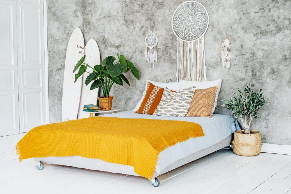 Boho Style Blanket Yellow