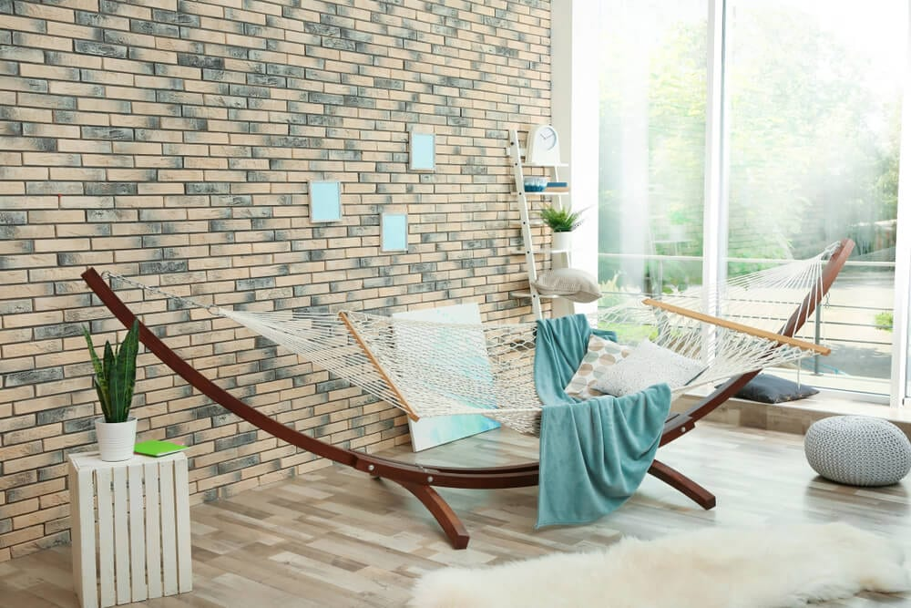 Boho Style Brick and Hammock