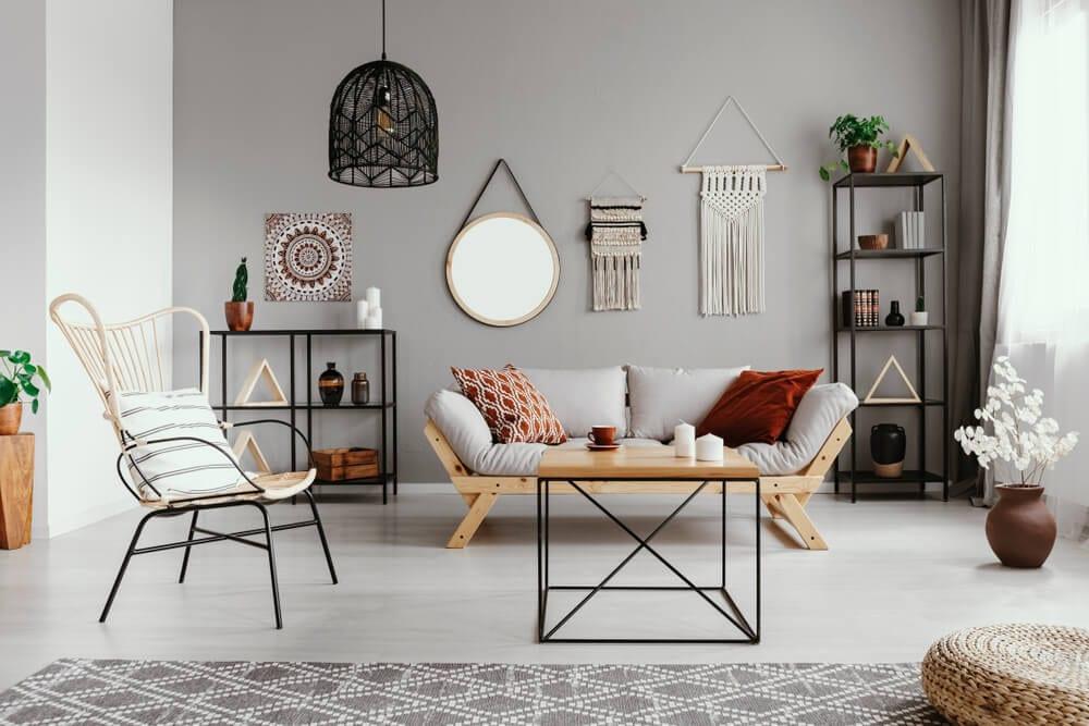 Boho Style Mismatched Furniture