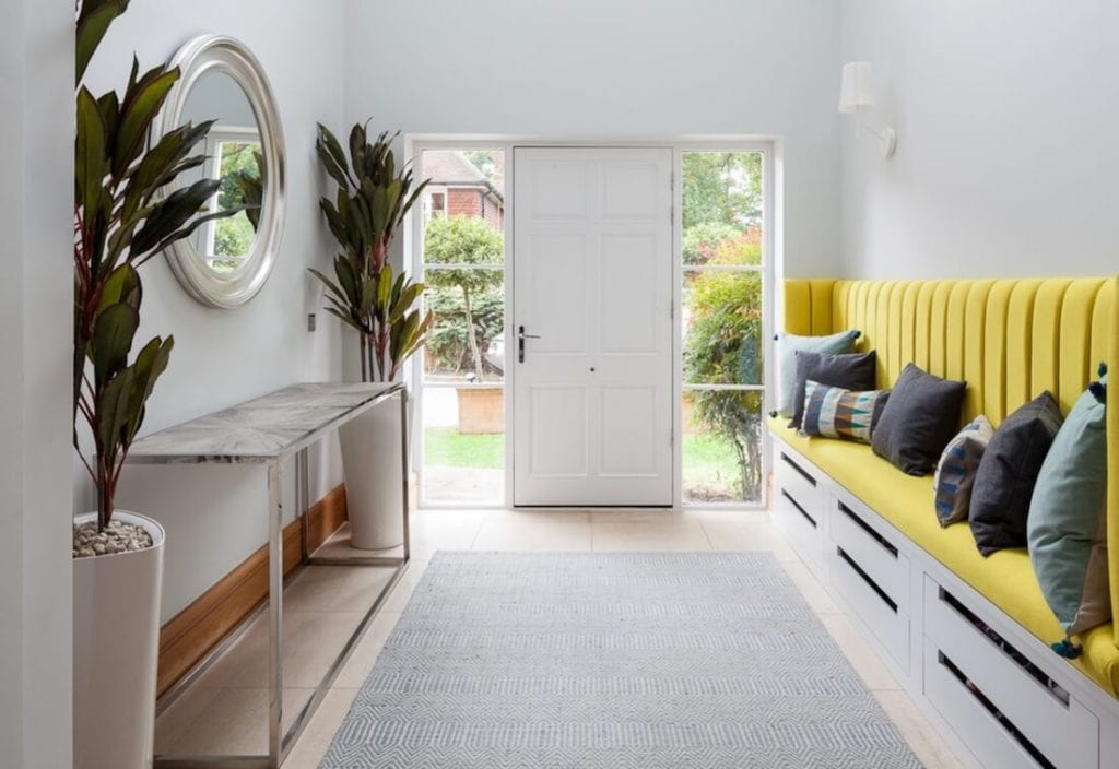 Bold Colors Yellow Entryway