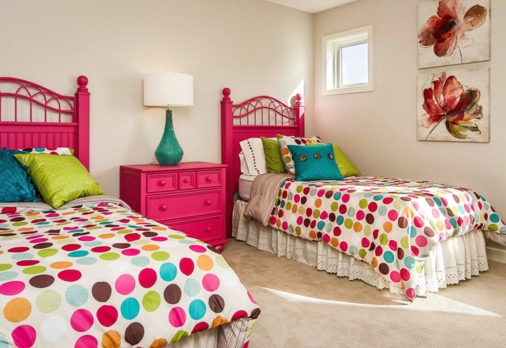 Bold Colors Pink Bedroom