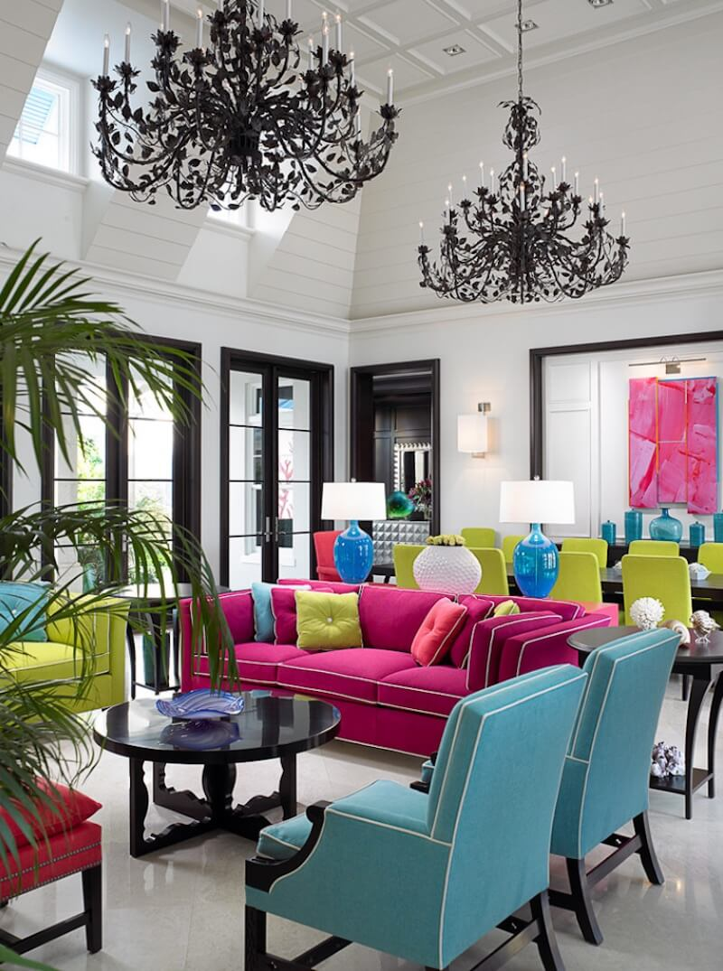 Bold Colors Bright Upholstery