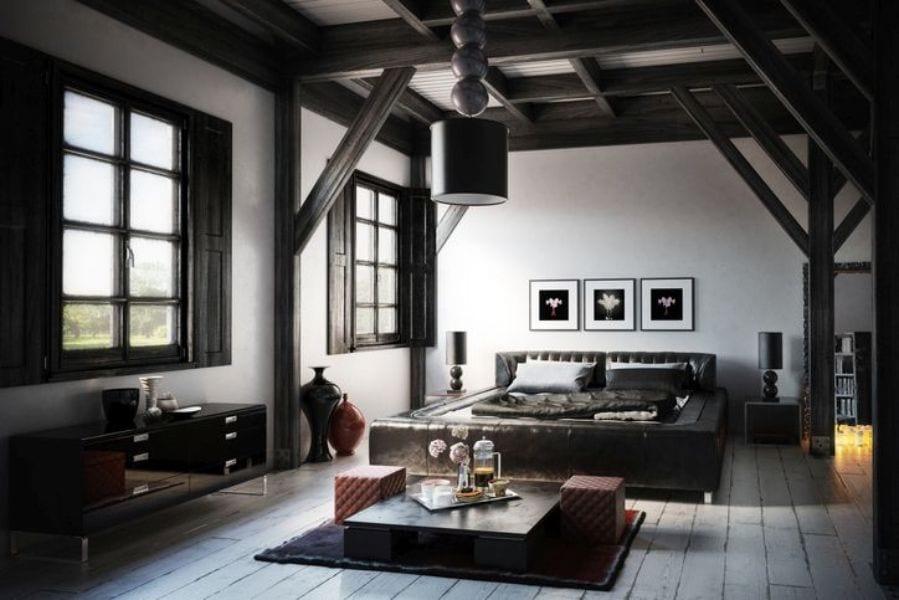 Color black architectural details