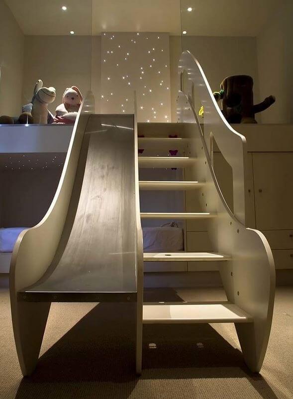 kid's bedroom slide