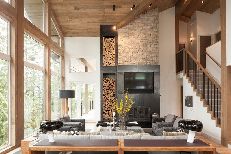 Canadian alpine chalet design by Robert Bailey