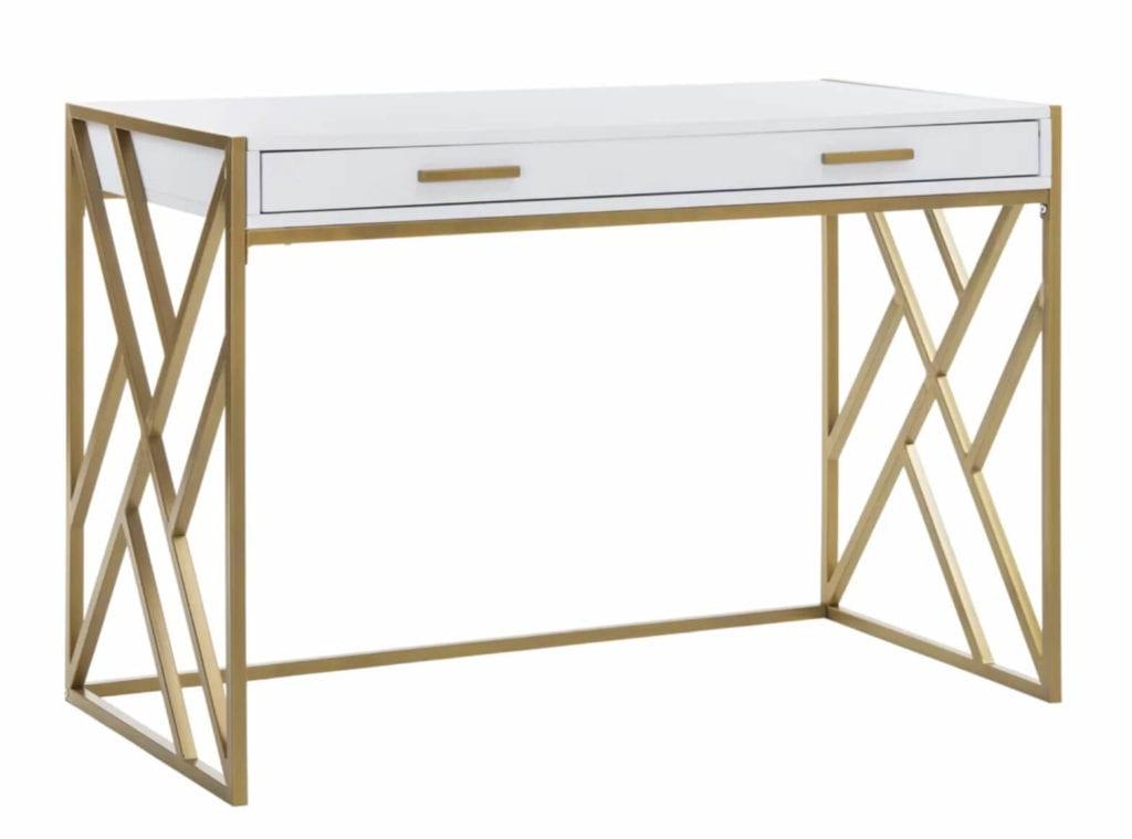 Brushed Gold desk