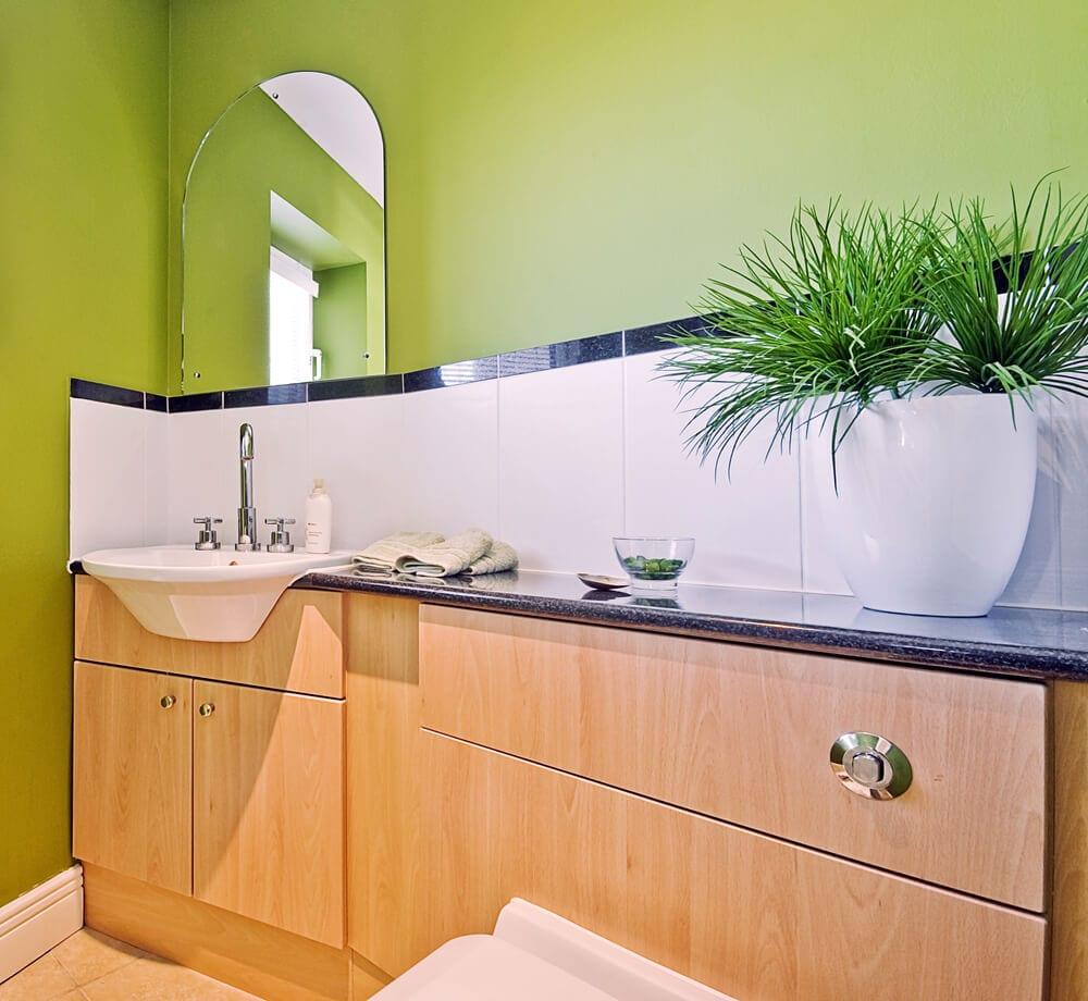 Colorful Zen Green Bathroom