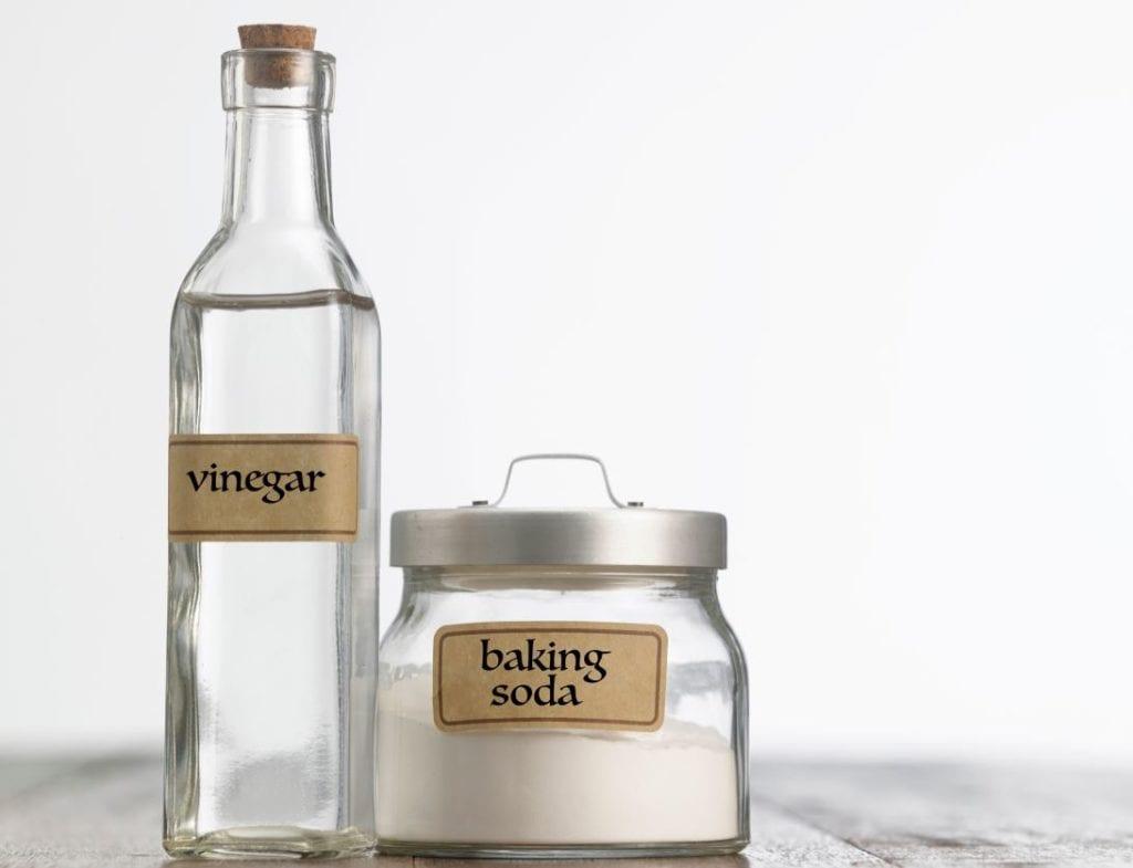 Clogged drains - vinegar and baking soda