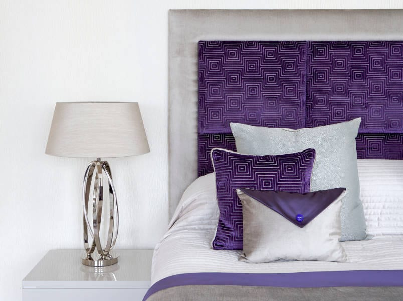 decorating with purple and grey