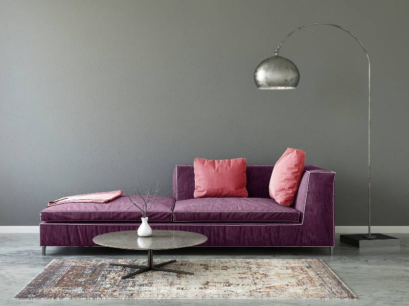 decorating with purple furniture