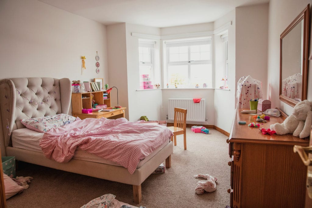 Photograph of a young girl's bedroom.