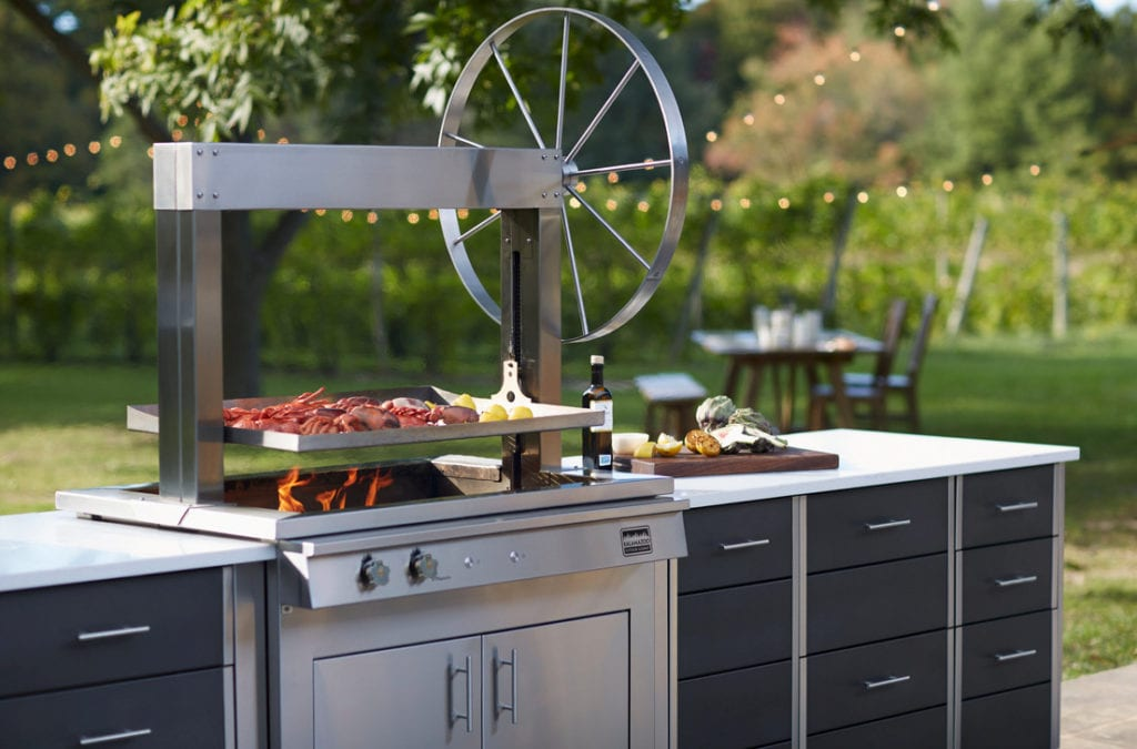 Increase your cooking options with the Goucho Grill by Kalamazoo Outdoor Gourmet.