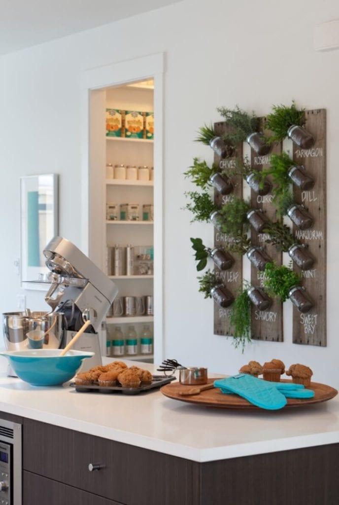 Greenery in the Kitchen Herb Garden