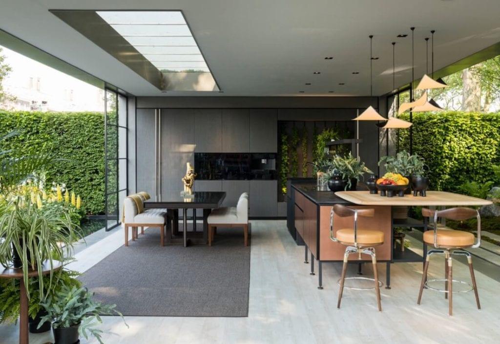 Greenery in the Kitchen Wide Window Design
