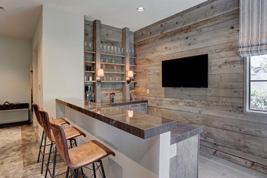 Home Bar Wood Wall