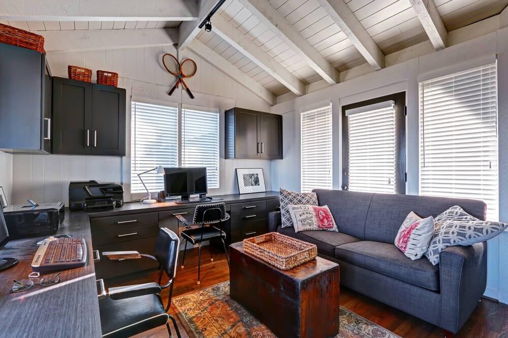 Home Office Color Schemes Blue Neutrals