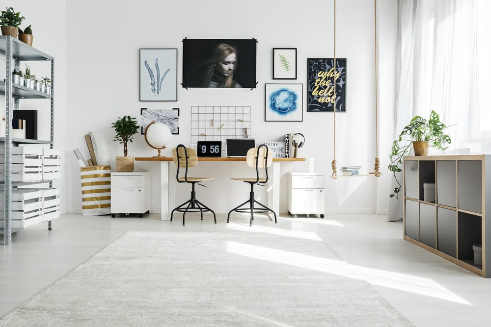 Home Office Color Schemes White Office
