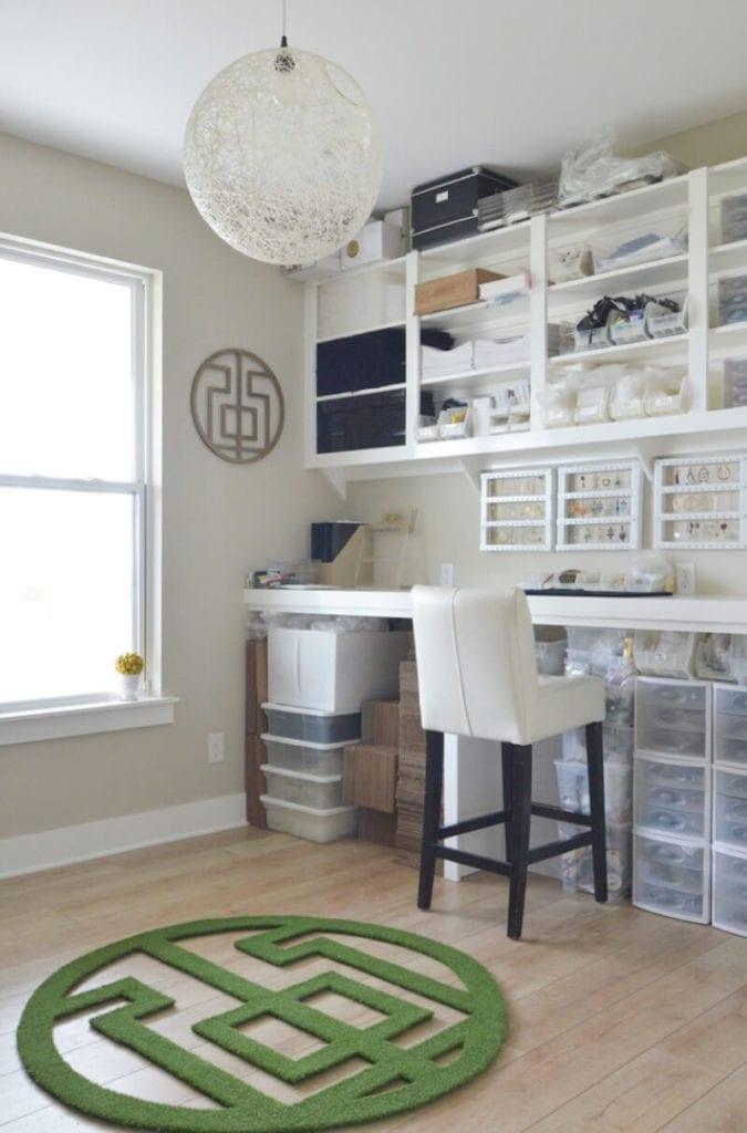 Home Office Organization Plastic Bins