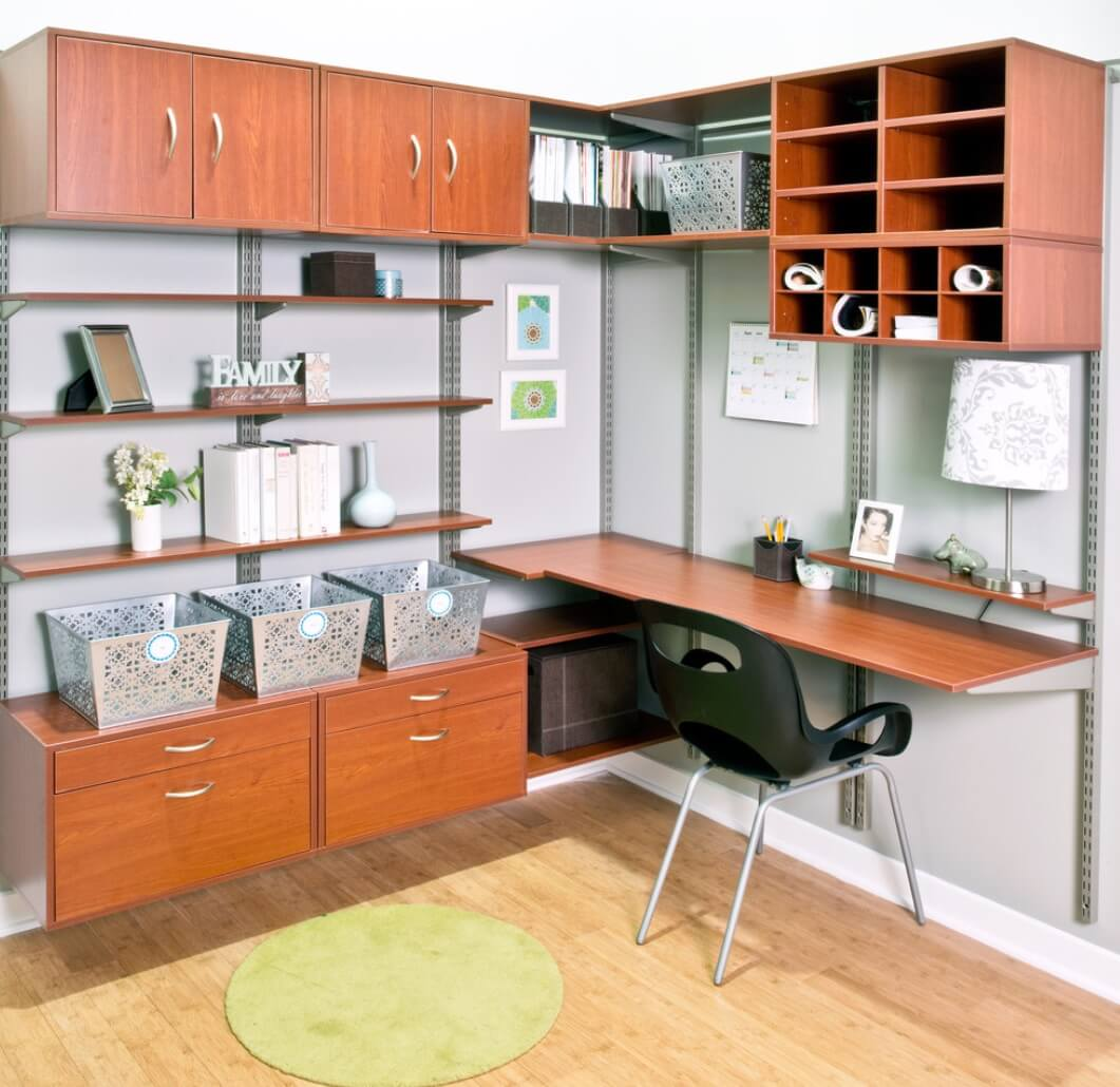 Home Office Organization Cubbies System