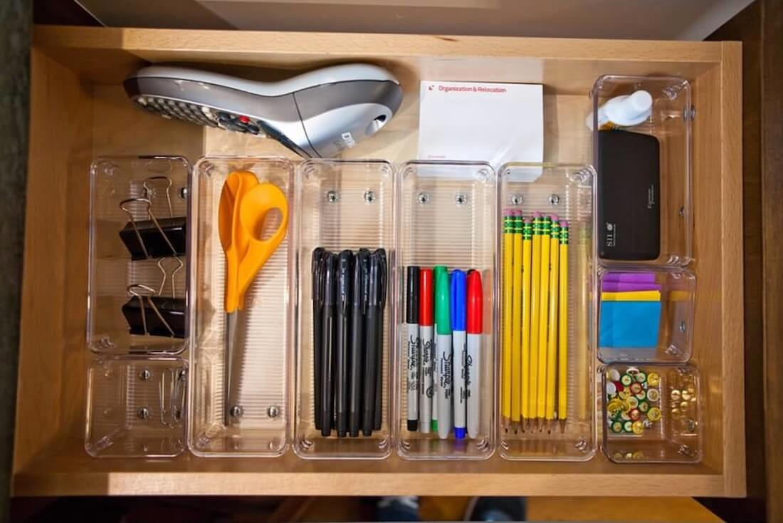 Home Office Organization Drawer Organizers