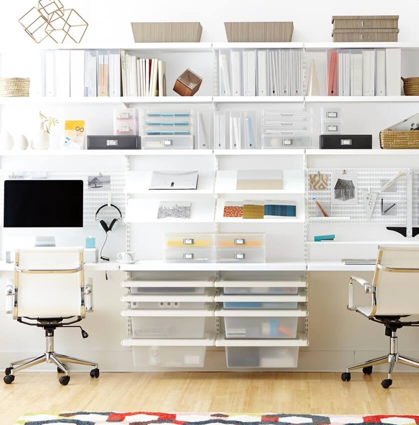 Home Office Organization Wall System Shelving