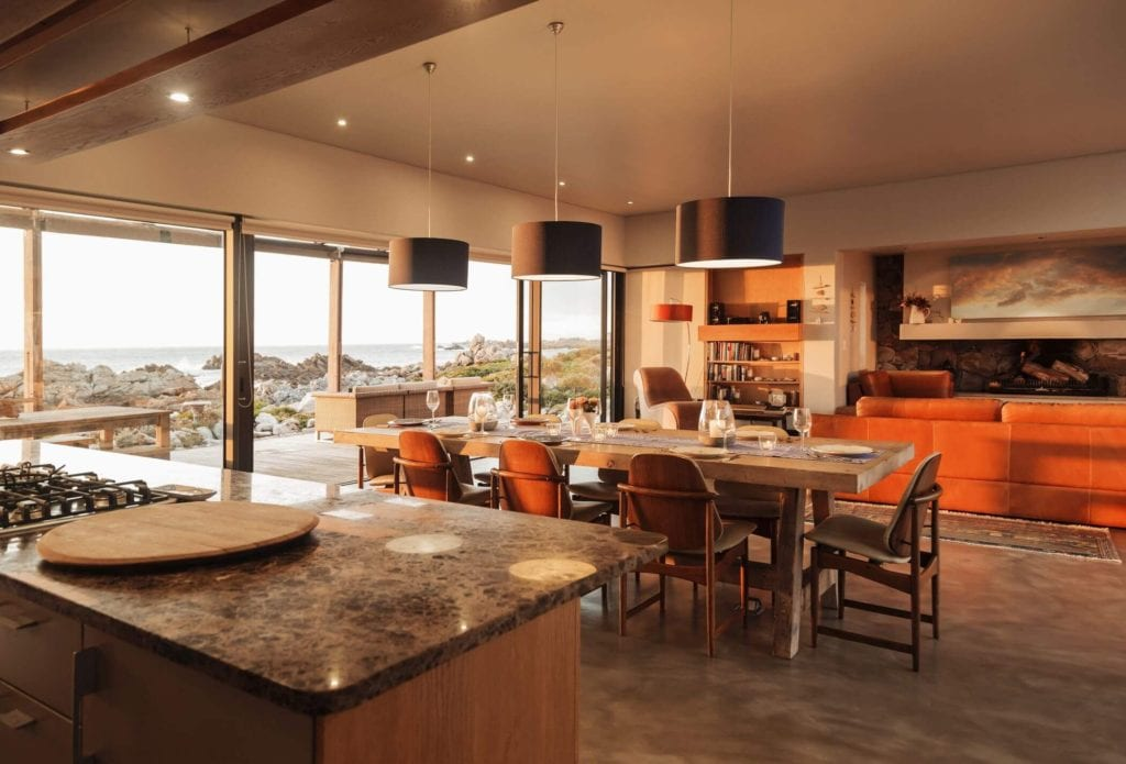 This kitchen provides spectacular views