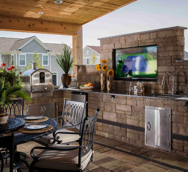 Cheer for your favorite team with an outdoor TV.