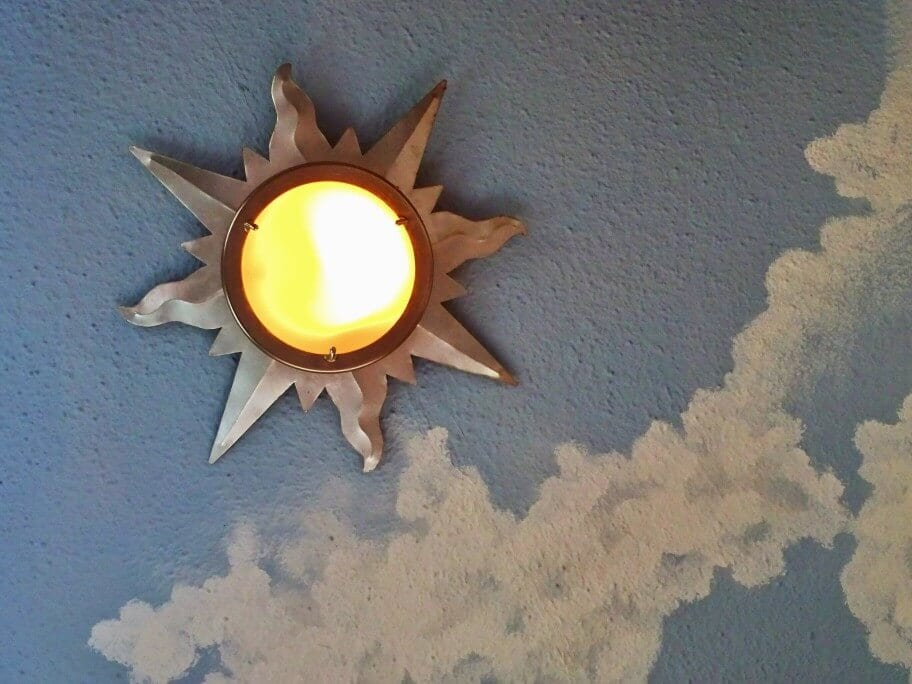 Interior Skyscapes Sun Lamp Style