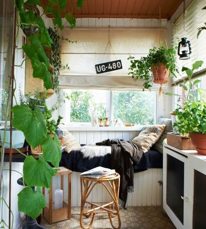 woman caves porch