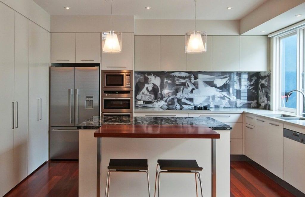 Kitchen Backsplash Contrast Collage Design