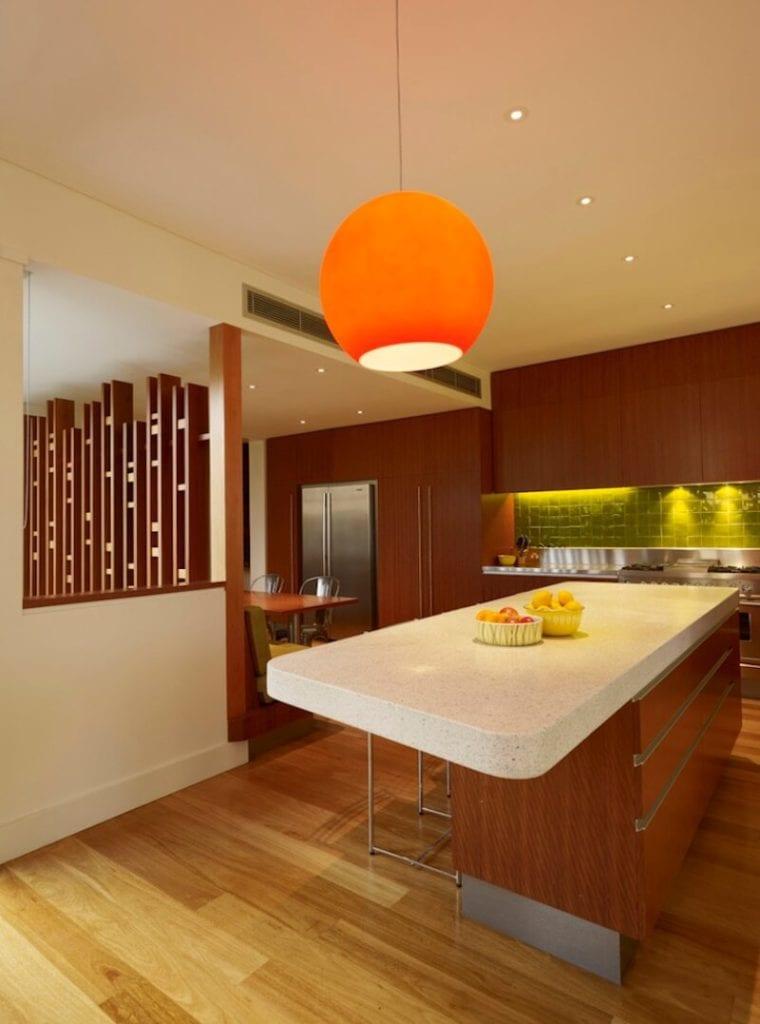 Kitchen Backsplash Contrast Bright Green