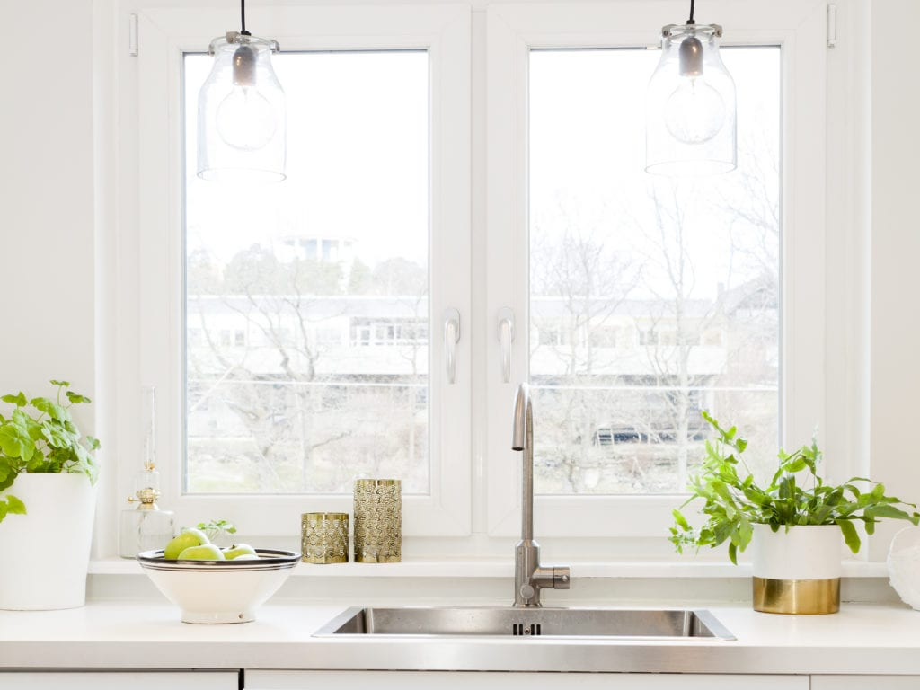 Kitchen window and sink