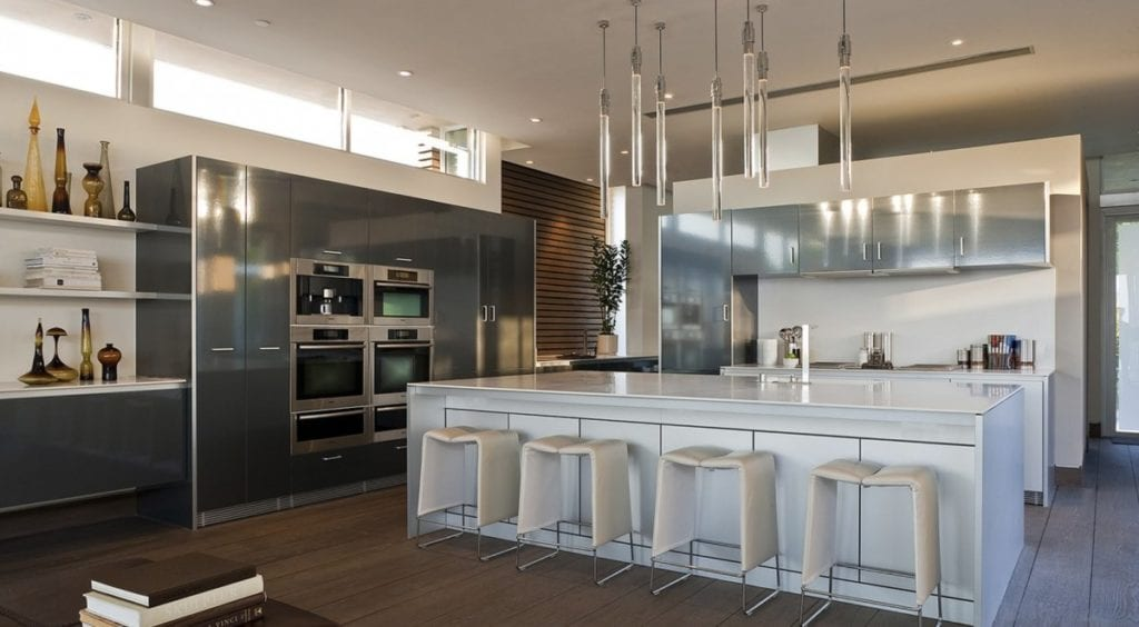 Kitchen and stainless steel appliances