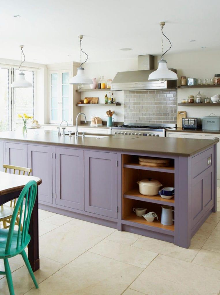 lilac farmhouse kitchen
