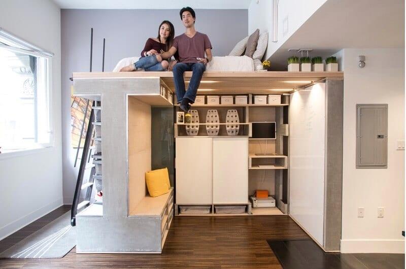 Custom Loft Maximizes Space In Tiny San Francisco Condo