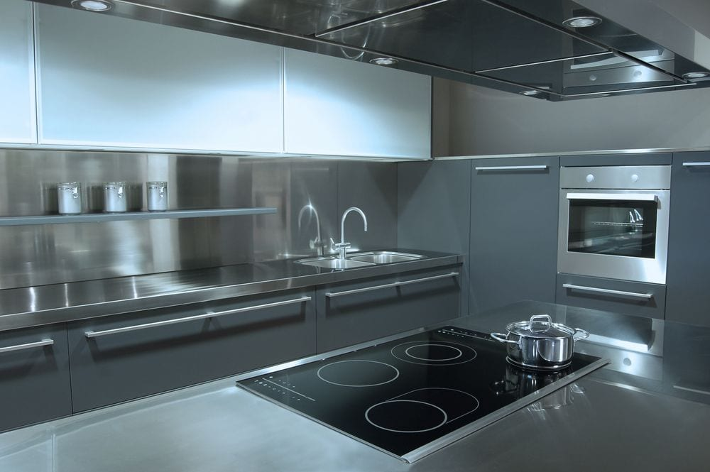 Industrial kitchen stainless steel