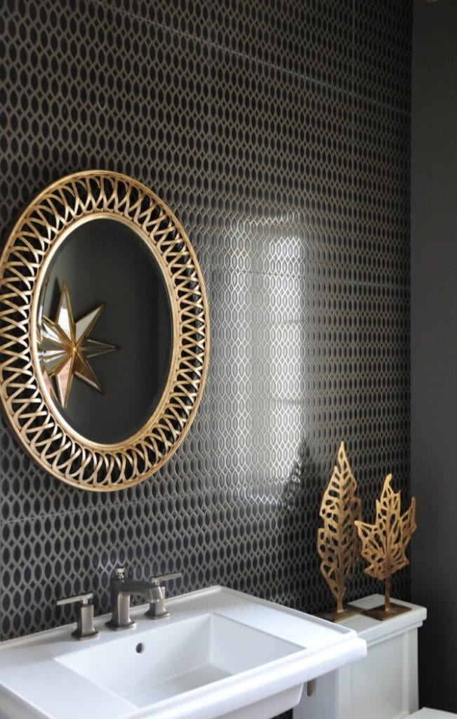 Mixed Metallics Leaves and Mirror