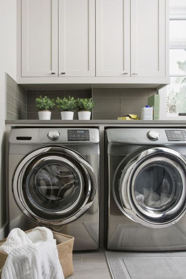 Toss clothes into washer