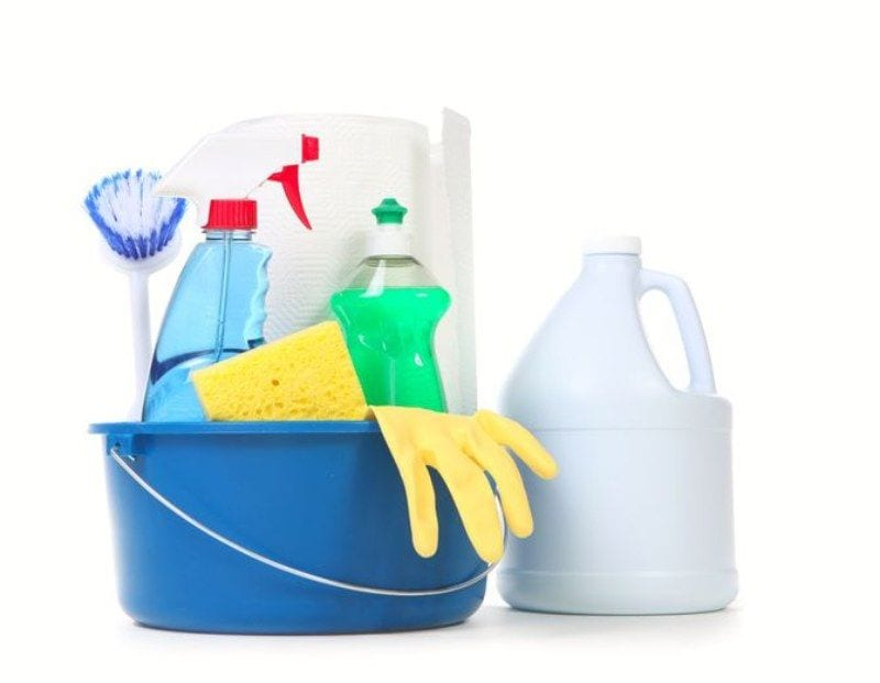 Remove mold with household chemicals