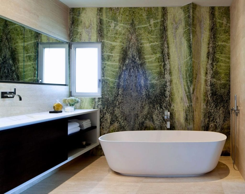 Natural Textures Green Stone Bathroom
