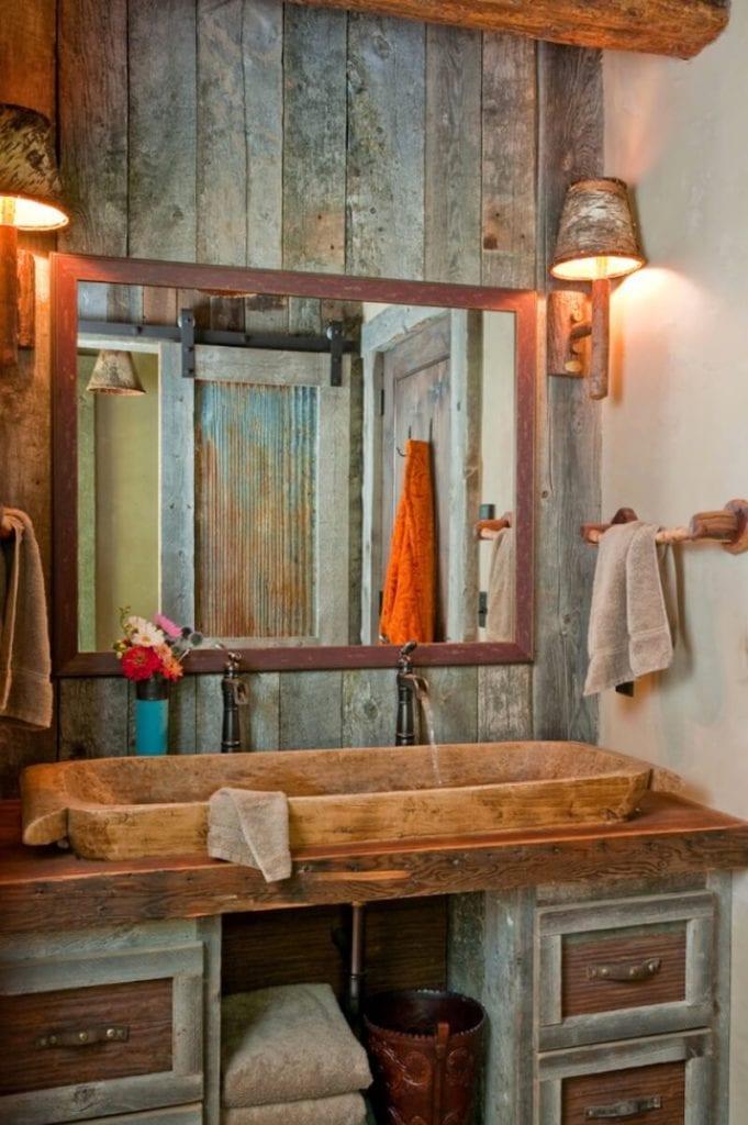 Natural Textures Wood Sink Bathroom