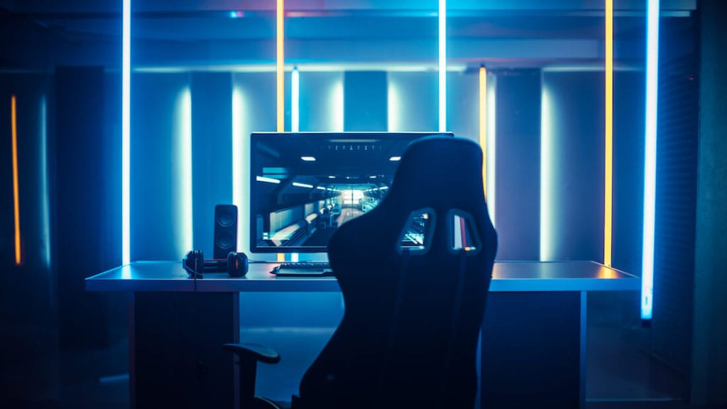 Neon Lights Game Room Design