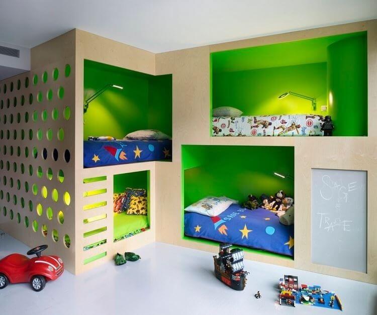 kid's bedroom climbing wall