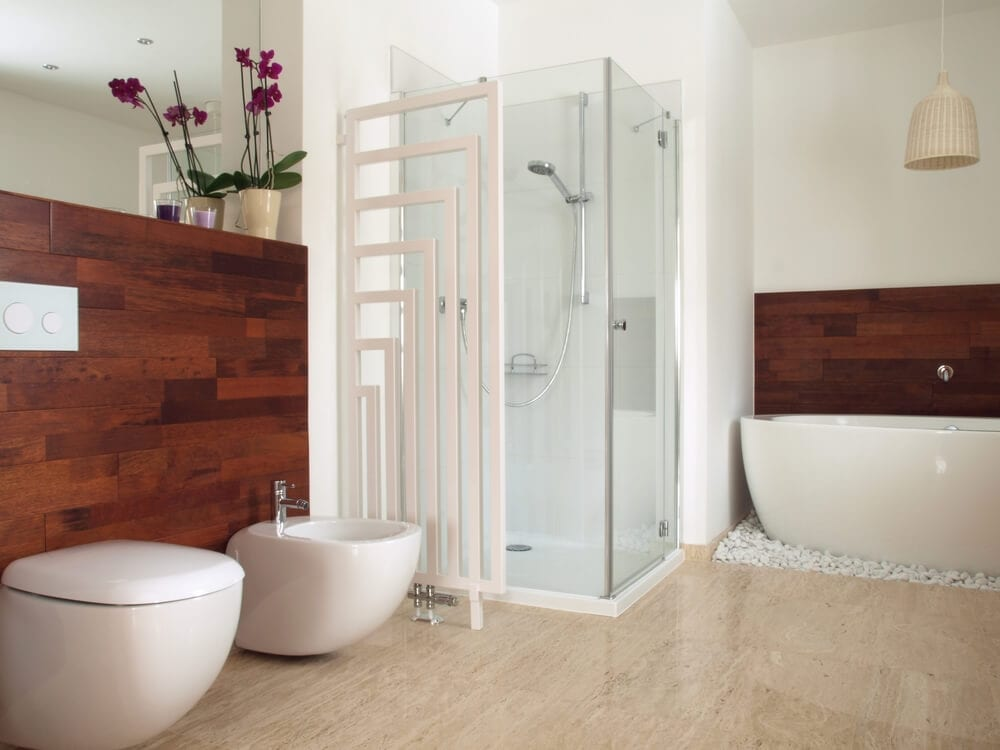 Open Design Showers Partition Style