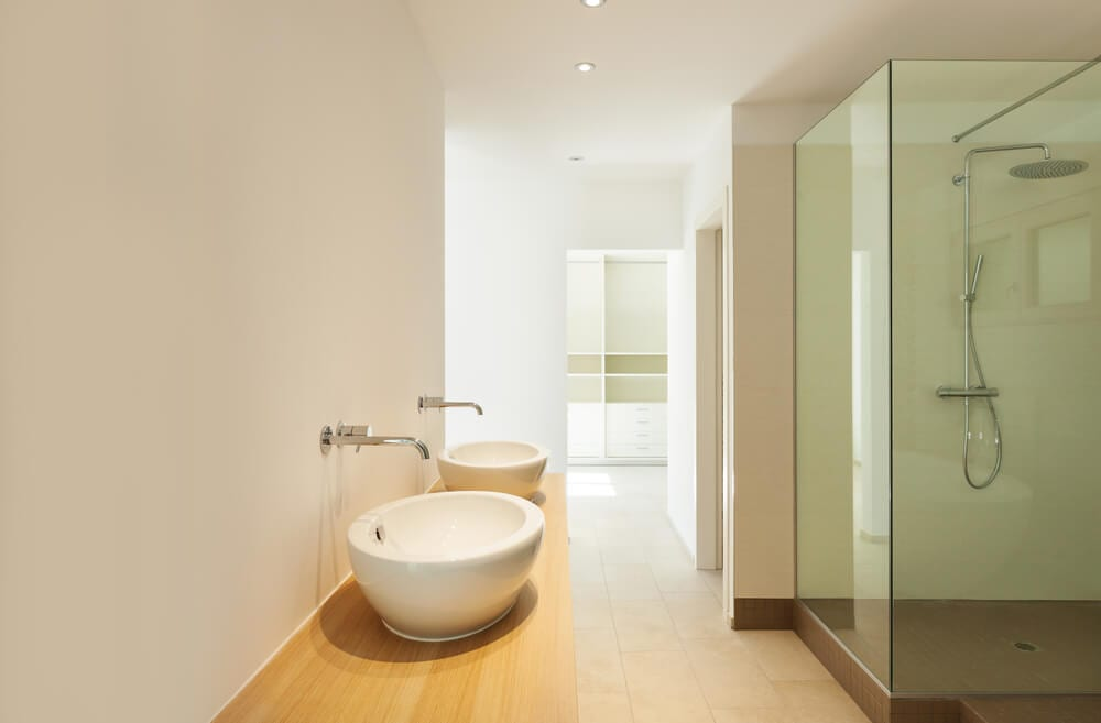 Open Design Showers Two Tubs Style